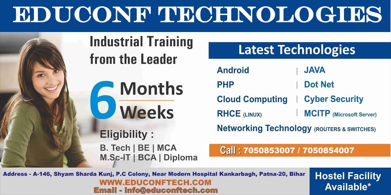 b.tech summer training patna